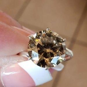 Moissanite Jewelry - 4.30 TCW GENIUNE FRENCH COGNAC MOISSANITE
